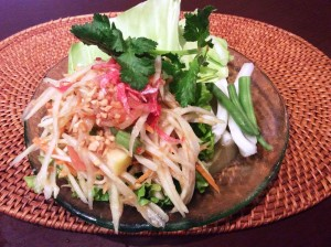 spicy green papaya salad
